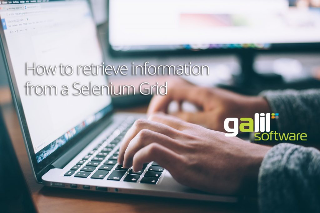 How to retrieve information from a Selenium Grid